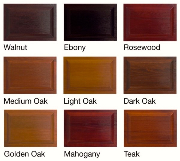 Hormann timber doors colour samples