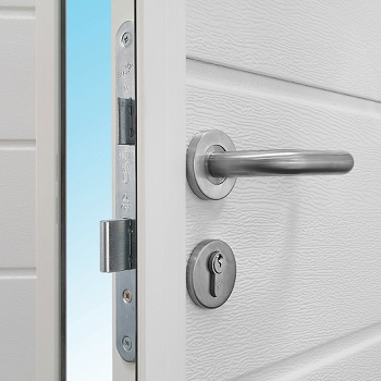 Attractive, high quality, brushed stainless steel handle and Eurolock escutcheon. Double throw sash mortice lock and secure centre cover strip on the active leaf ensure a high level of security.