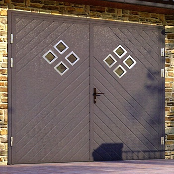 Ryterna Glazed Chevron garage door