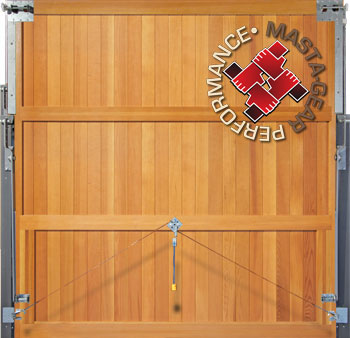 Rear of a solid built Woodrite door showing solid cedar stiles, rails and bracing.