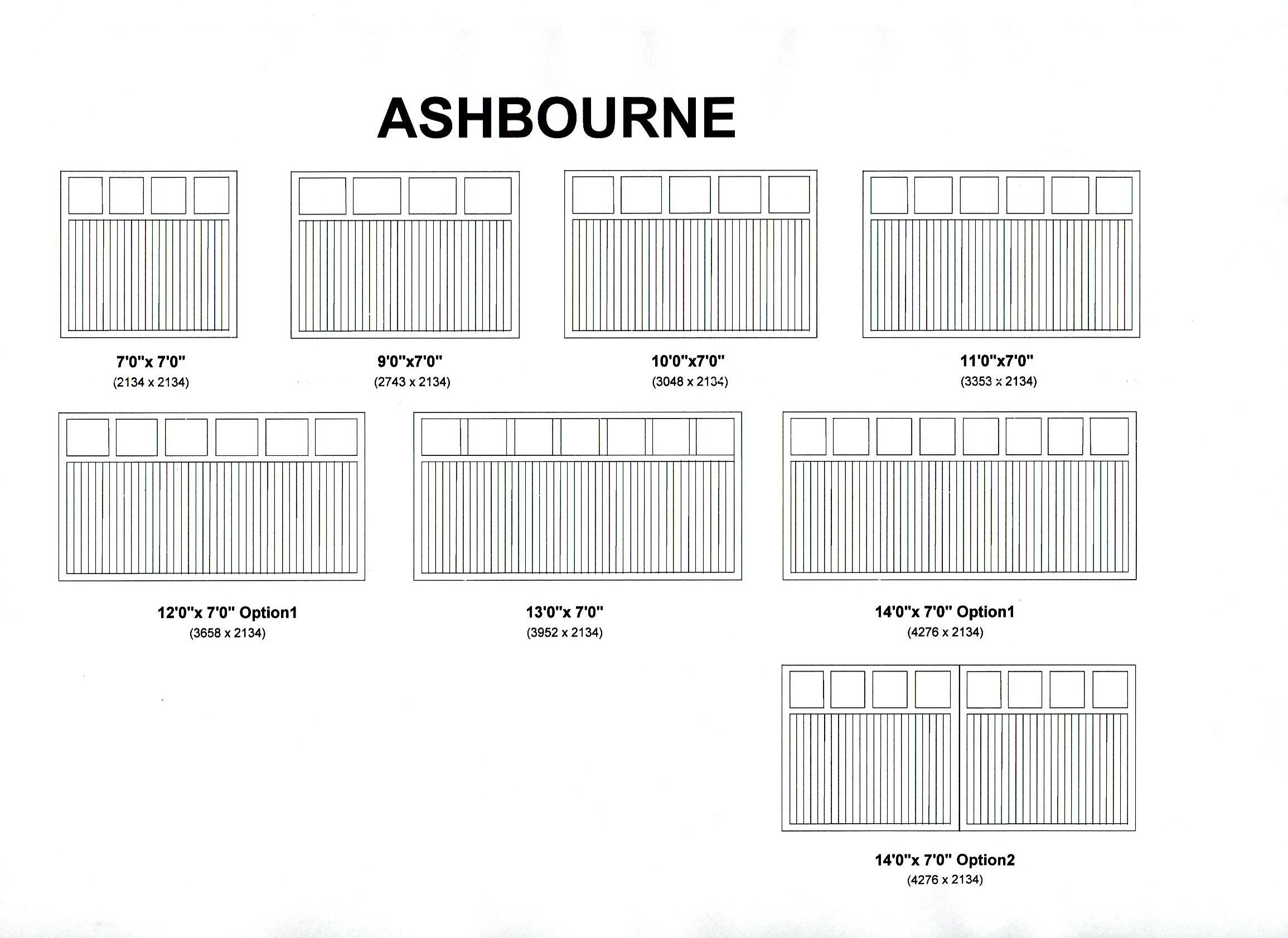 Cedar Door Ashbourne design options