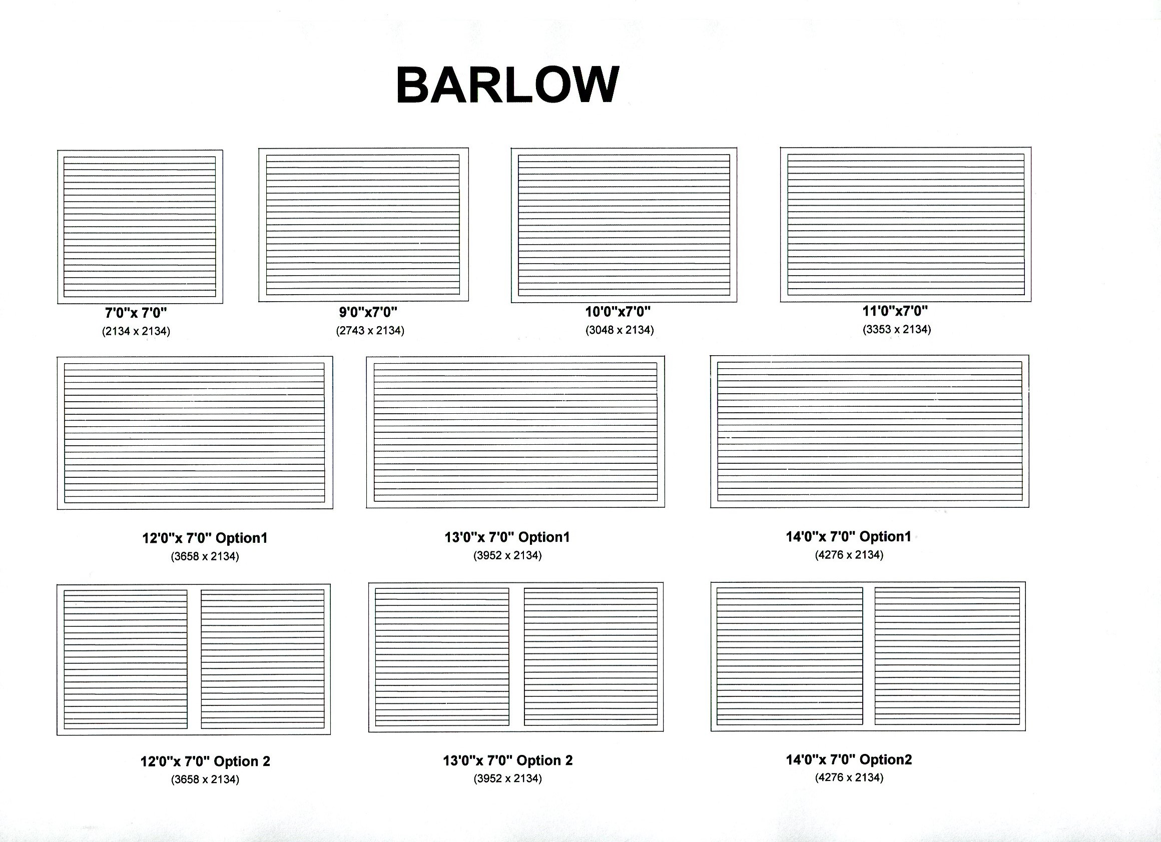 Cedar Door Barlow design options