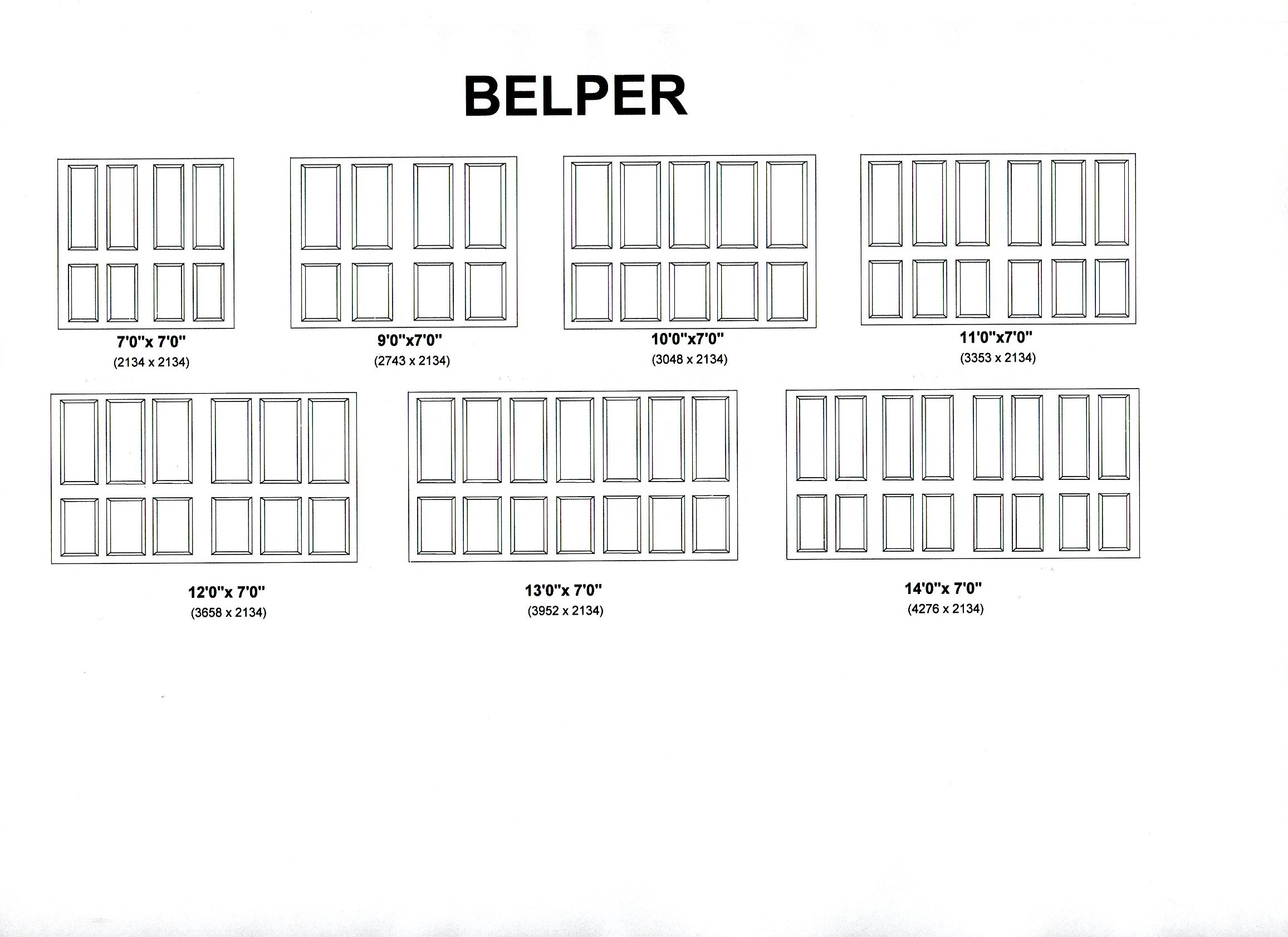 Cedar Door Belper design options