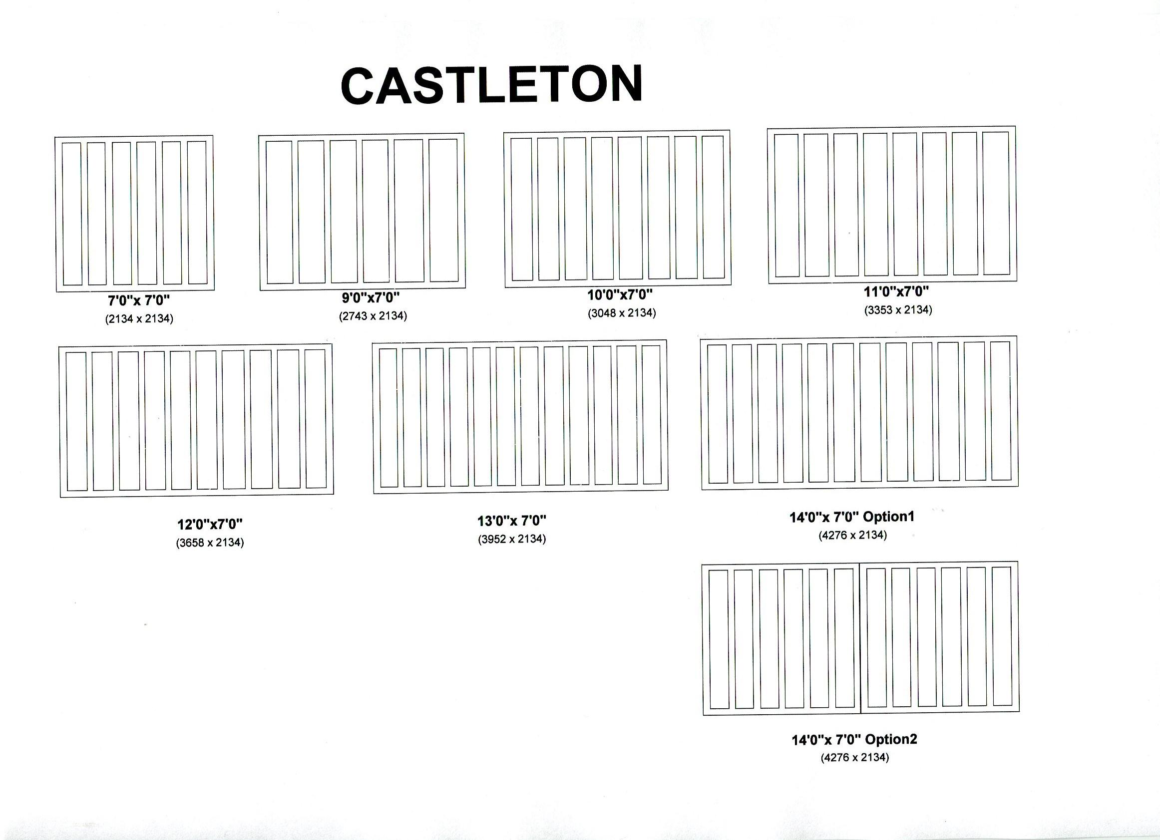 Cedar Door Castleton design options
