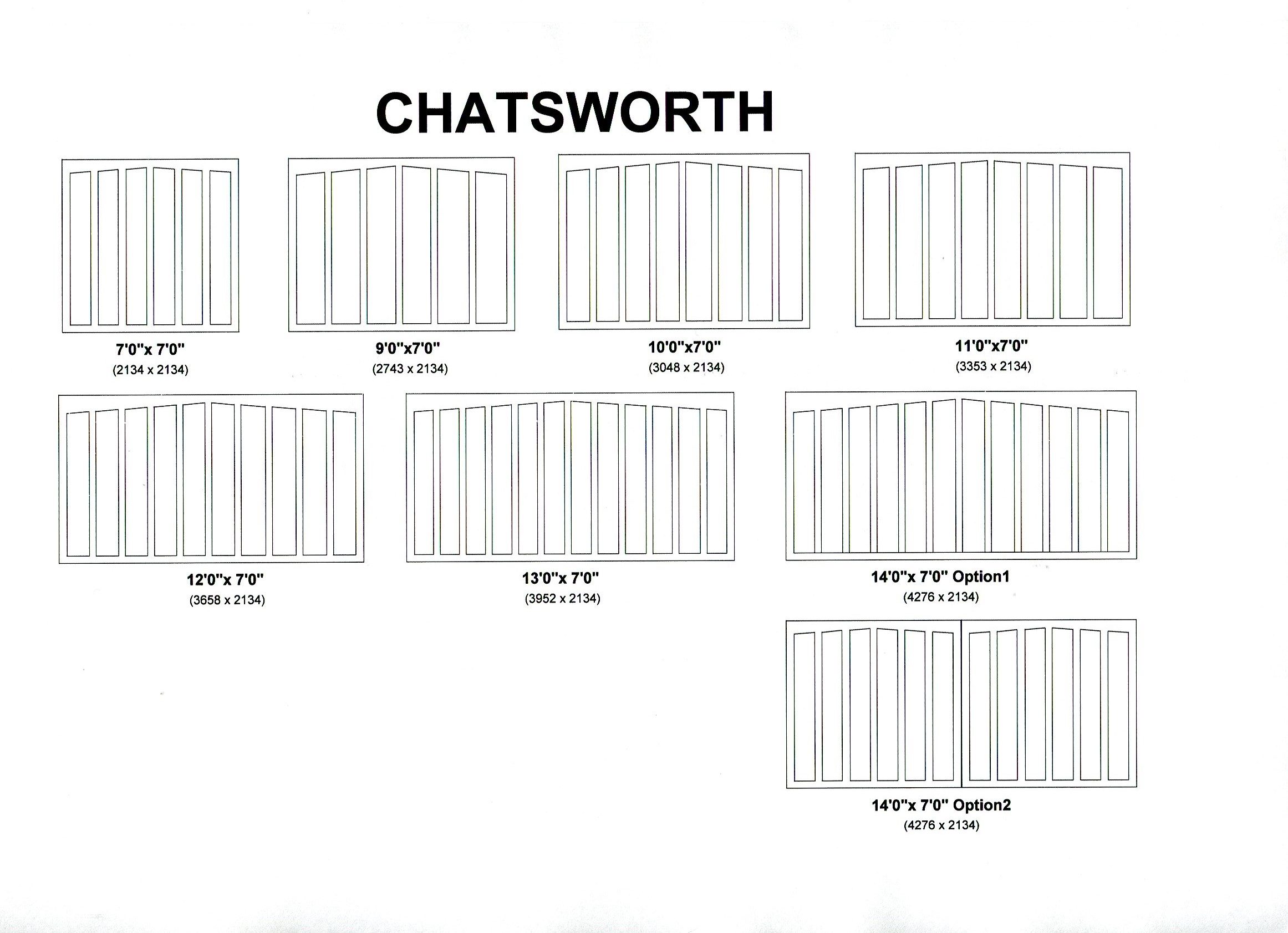 Cedar Door Chatsworth design options