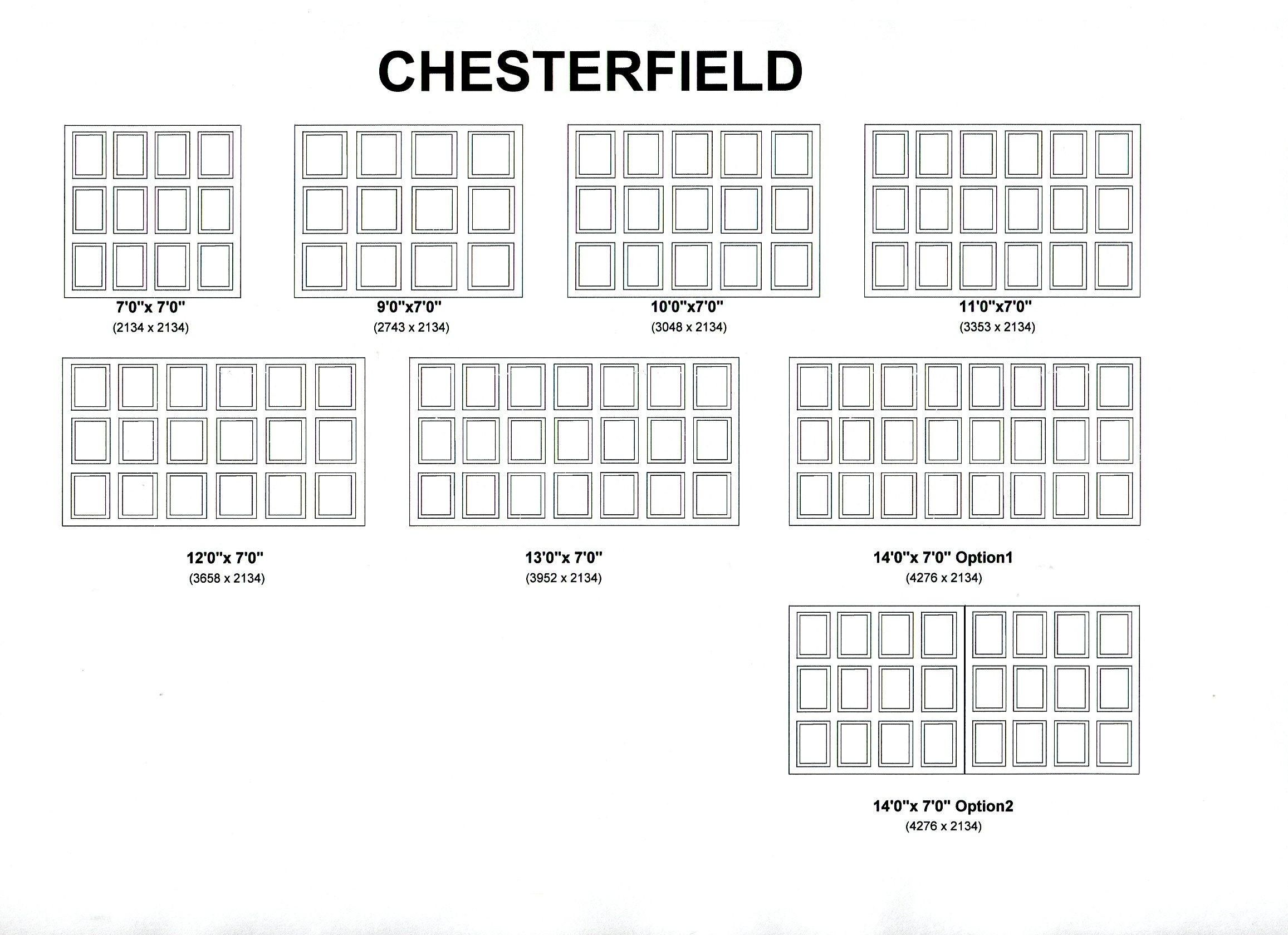 Cedar Door Chesterfield design options