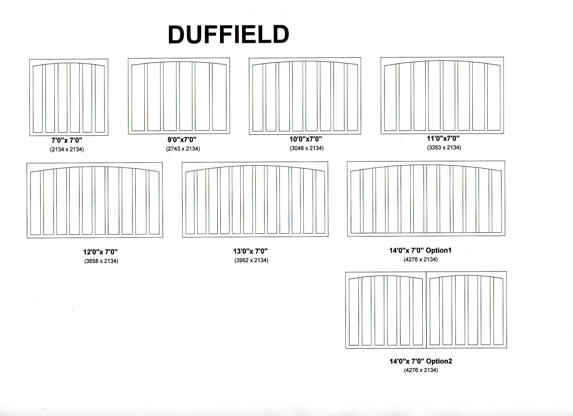 Cedar Door Duffield design options