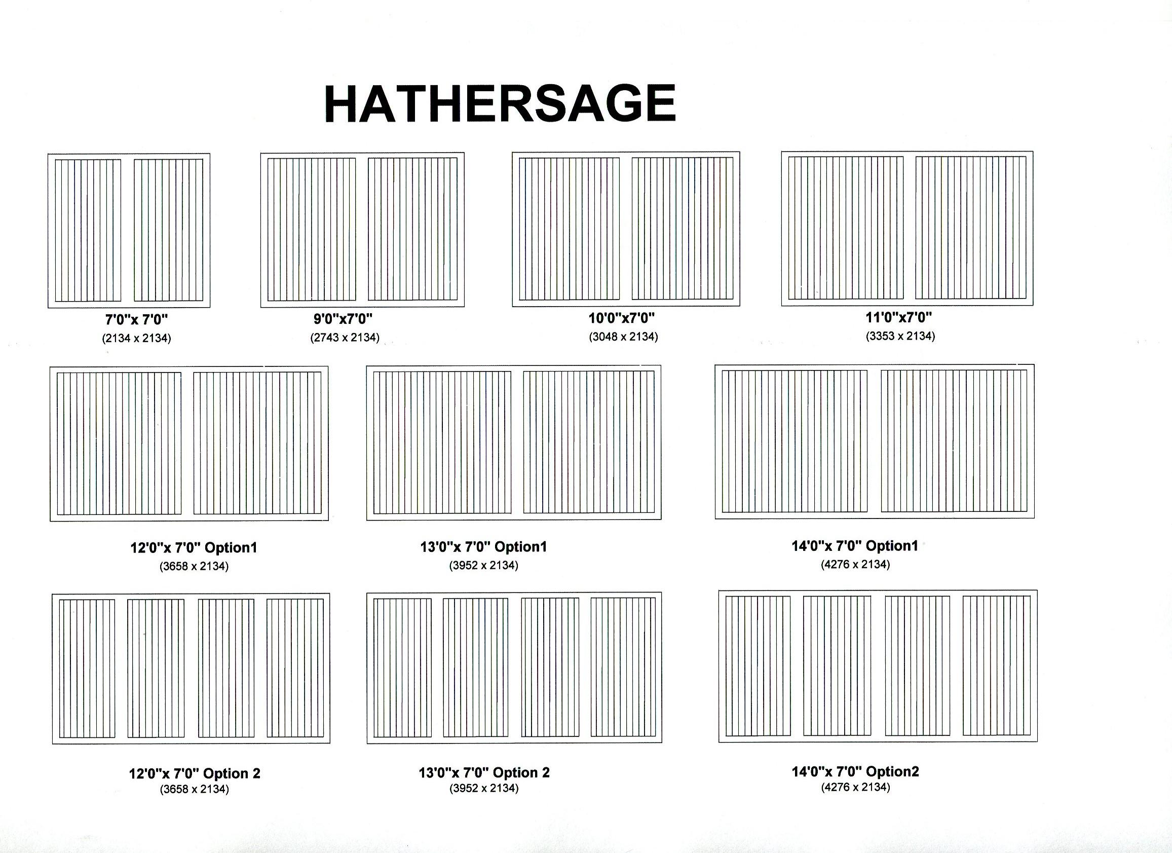 Cedar Door Hathersage design options