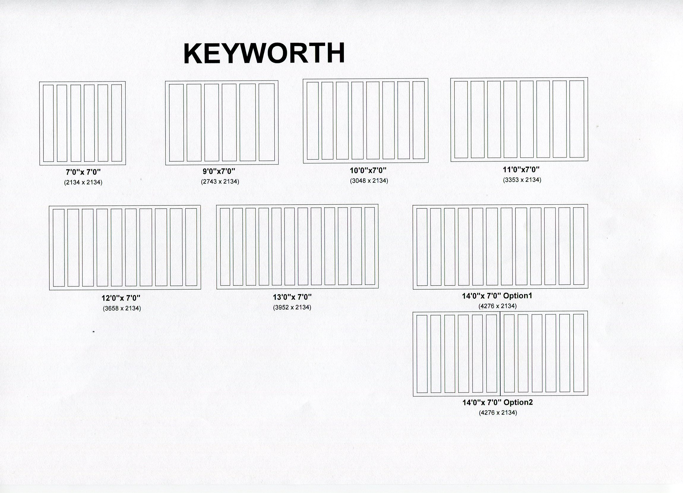 Cedar Door Keyworth design options