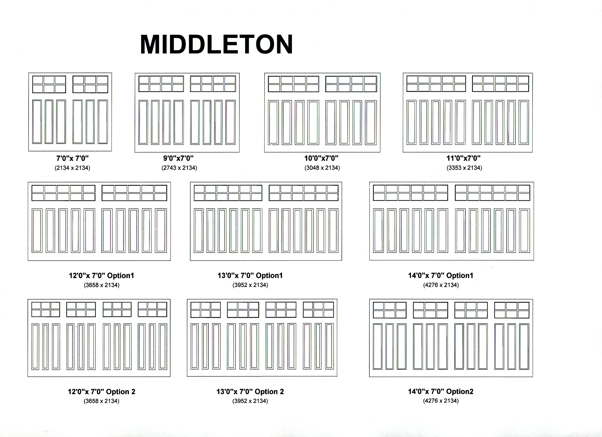 Cedar Door Middleton design options