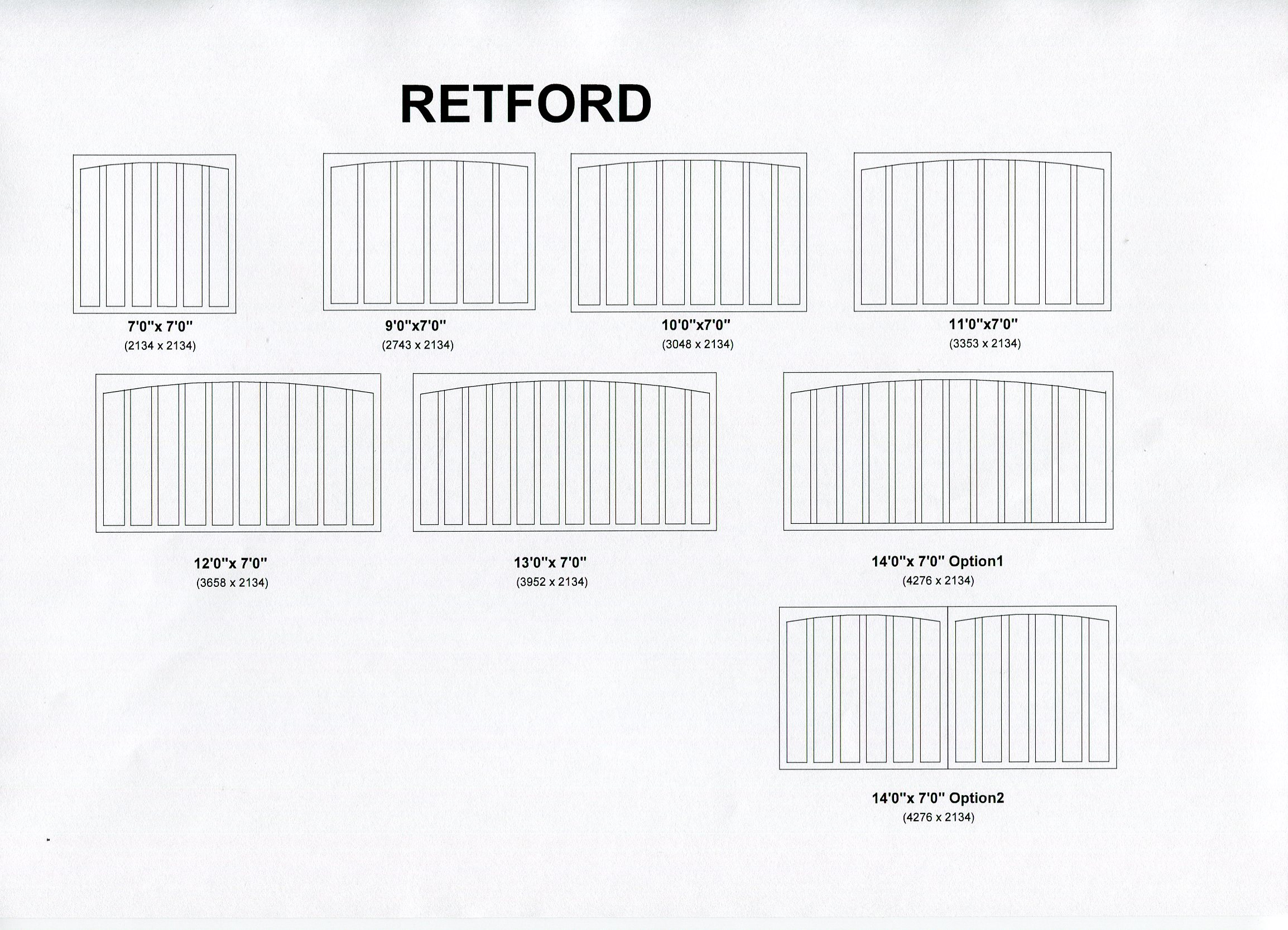 Cedar Door Retford design options