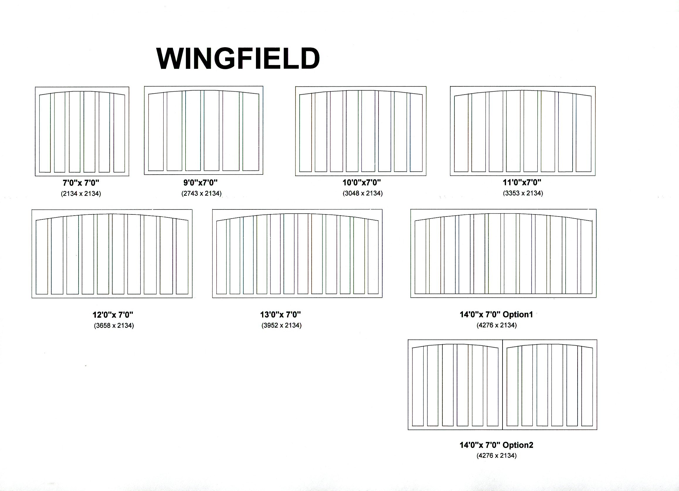 Cedar Door Wingfield design options