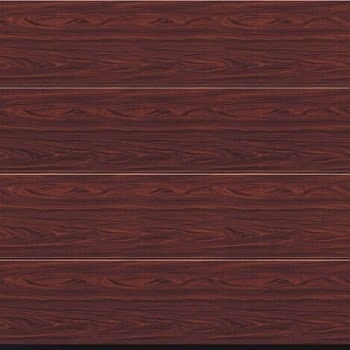 rosewood effect steel sectional door