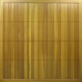 Cedar timber sectional garage door