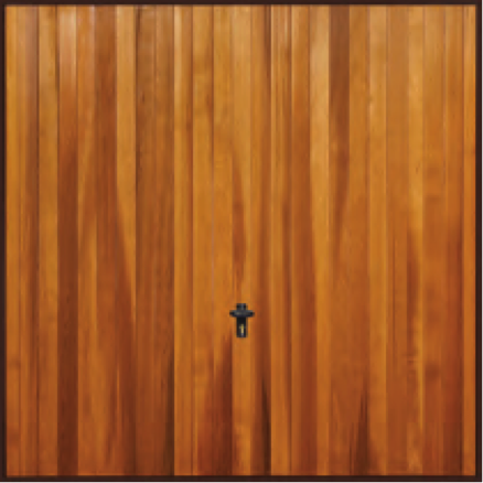 Fort Tewksbury budget cedar doorVertical rib design