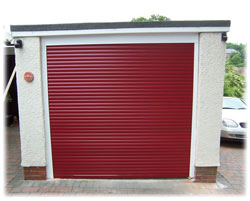 Roller shutter garage door fitted by Giles