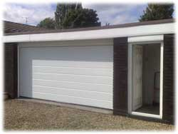 Installed sectional garage door
