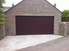 Picture of sectional garage door in Rosewood installed by Kevin