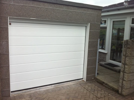 Picture of Hormann sectional garage door fitted by Kevin