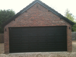 Georgian sectional garage door fitted by Shaun