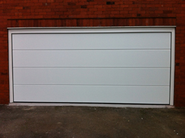 Picture of L-Rib sectional garage door fitted by Shaun