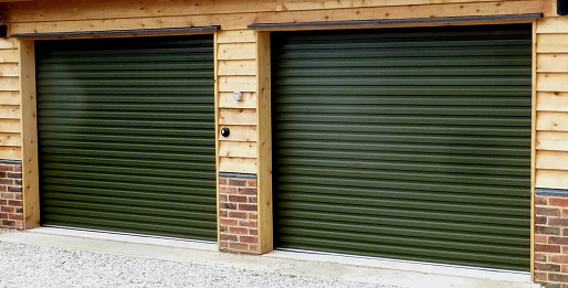 Picture of a pair of roller garage doors