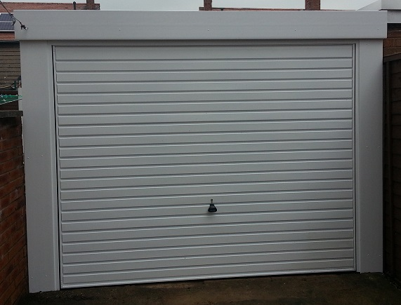 Picture of installed Horizontal-Rib up & over garage door