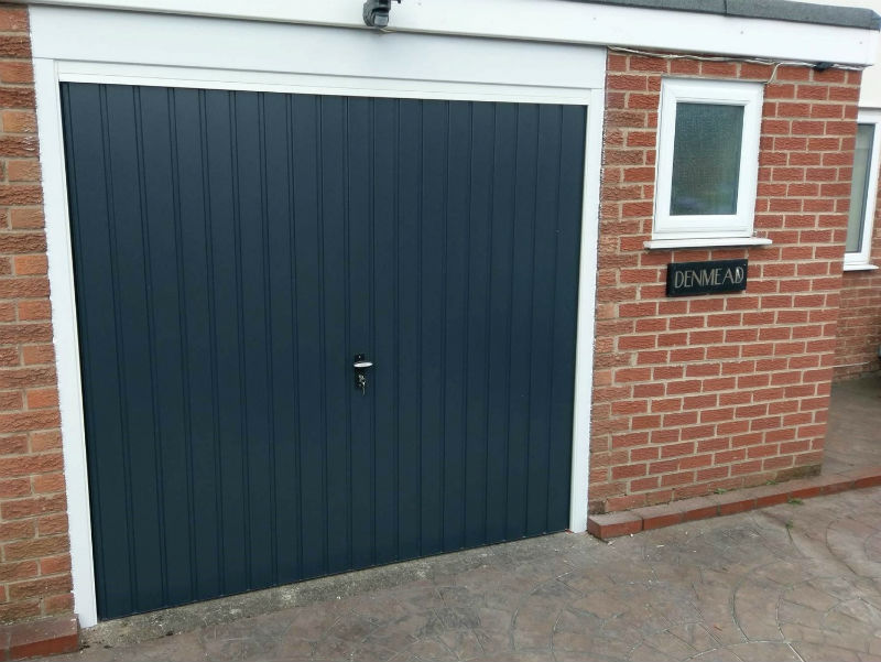 Fort steel up and over in vertical rib Anthracite Grey