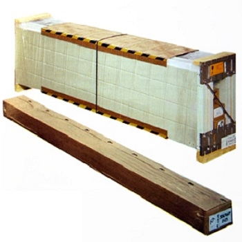 Hormann sectional garage doors are delivered packaged on a pallet
