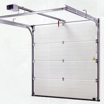 Rear of Hormann sectional garage door