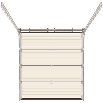 Ryterna insulated rib steel woodgrain sectional garage door for Friendly garage door colorado springs