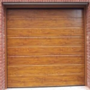 Ryterna 40mm Insulated MidRib Slick Wood Effect Steel sectional garage door