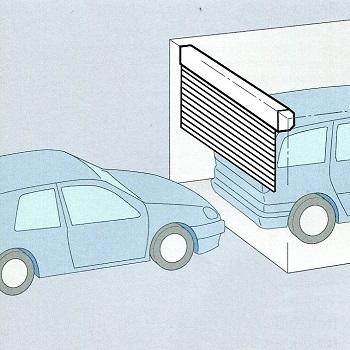 Roller Door opens vertically and requires minimum space inside the garage