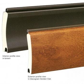 Decograin doors have brown painted interior