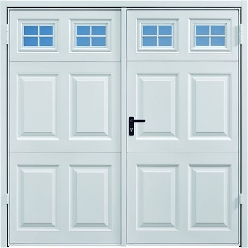Garador Beaumont Steel Side-Hinged garage doors with Windows