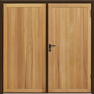 Garador Kingsbury Cedar Side-Hinged garage doors