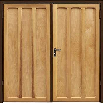 Garador Seymour Cedar Side-Hinged garage doors