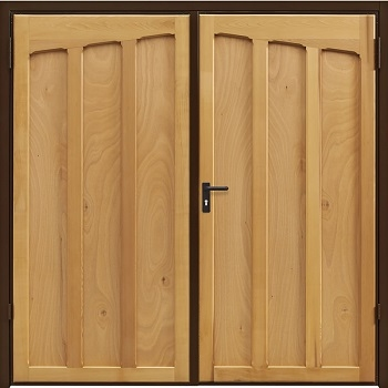 Garador Tudor Cedar Side-Hinged garage doors