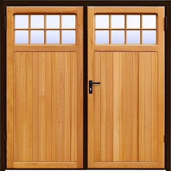 Garador Ashton Cedar Side-Hinged garage doors