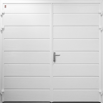 Carteck Horizontal-Ribbed Insulated Side-Hinged garage doors