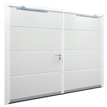 Rear of Carteck Insulated Side-Hinged garage doors