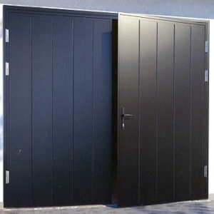 Ryterna Vertical MidRib Insulated Side-Hinged garage doors