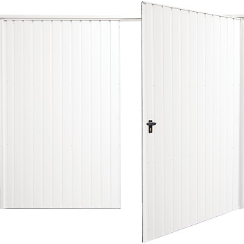 Fort Vertical-Rib Steel Side-Hinged garage doors