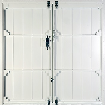 Inside view of doors with cable operated latches and threshold option upgrade