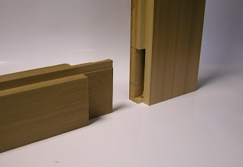 Mortice and Tenon joints feature on all Cedar Door Traditional range