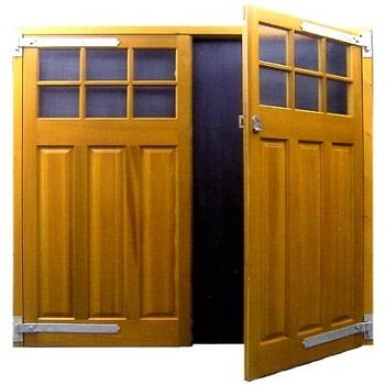 Cedar Door Middleton Side-Hinged doors with Traditional Hardware
