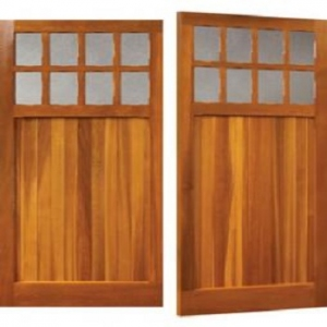Woodrite Bierton Cedar Side-Hinged garage doors