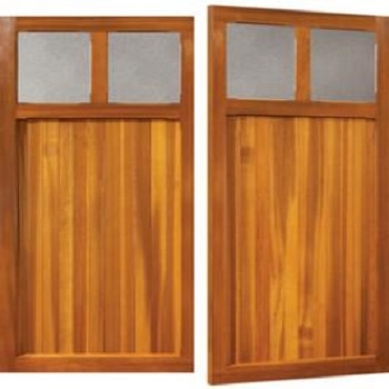 Woodrite Coleshill Cedar Side-Hinged garage doors