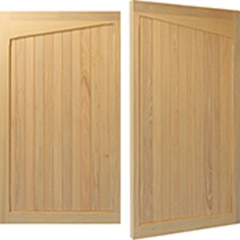 Woodrite Warwick Grendon Idigbo Side-Hinged garage doors