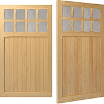 Woodrite Warwick Brandon Idigbo Side-hinged garage doors